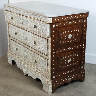 20th Century Syrian White Mother-Of-Pearl Inlay Wedding Dressers - a Pair Preview