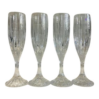 Vintage Park Lane Fluted Champagne Glasses by Mikasa - Set of 4 For Sale