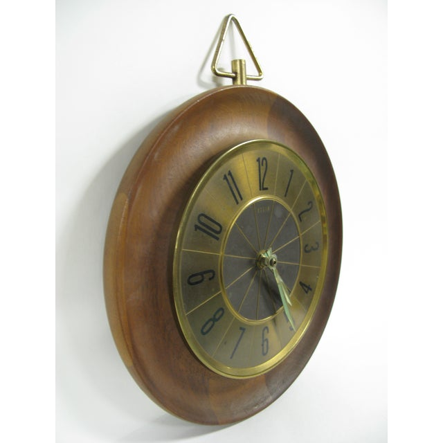 1960s Mid Century Modern Elgin Wall Clock For Sale - Image 9 of 11