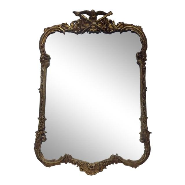 Antique Civil War Federal Gesso Gold Gilt Mirror For Sale