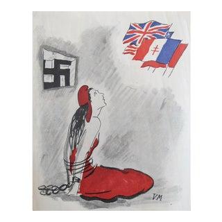 1900's Original French War Propaganda Poster