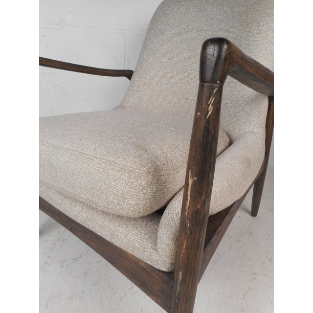 Light Gray Contemporary Modern Lounge Chair For Sale - Image 8 of 10