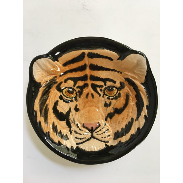 Vintage Mid-Century Italian Pottery Tiger Bowl For Sale - Image 9 of 9