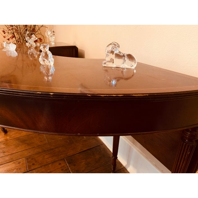 Brown Solid Mahogany Hunt Table in the Federal Regency Style For Sale - Image 8 of 9