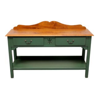 Ethan Allen Country Crossings Solid Maple Sideboard / Console Table For Sale