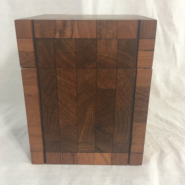 Dunhill Dunhill Vintage British Crown Colony Teak Humidor Box For Sale - Image 4 of 8