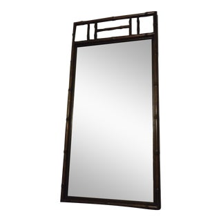Henredon Bamboo Style Mirror For Sale
