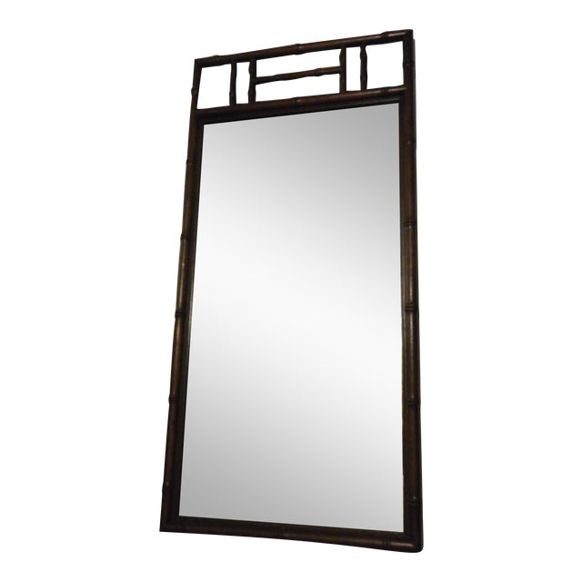 Henredon Bamboo Style Mirror For Sale