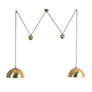 Florian Schulz Double Counter Balance Brass Pendants For Sale
