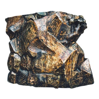 18th Century Venetian Sculptural Wooden Object in the Form of Rocks With Floral Elements. 1 of 2. For Sale