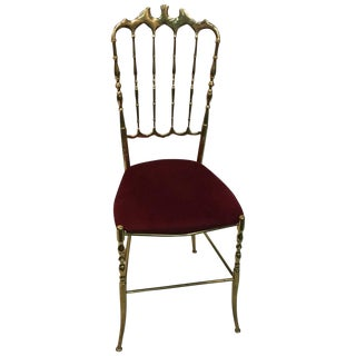 Italian Chiavari Chair Brass High Style For Sale