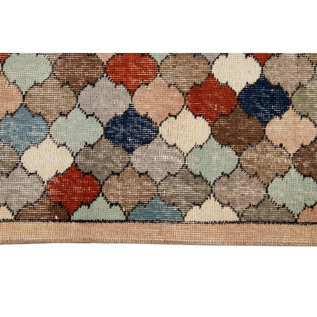 Brown Vintage Turkish Scatter Wool Rug 4 X 8 For Sale - Image 8 of 13