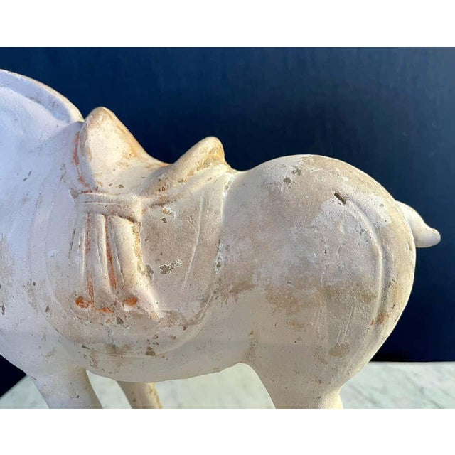 Ceramic Antique Tang Pottery Horses - a Pair For Sale - Image 7 of 13