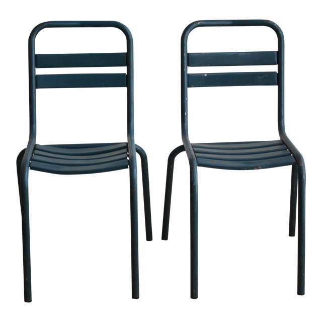 Vintage French Bistro Chairs - Image 1 of 7
