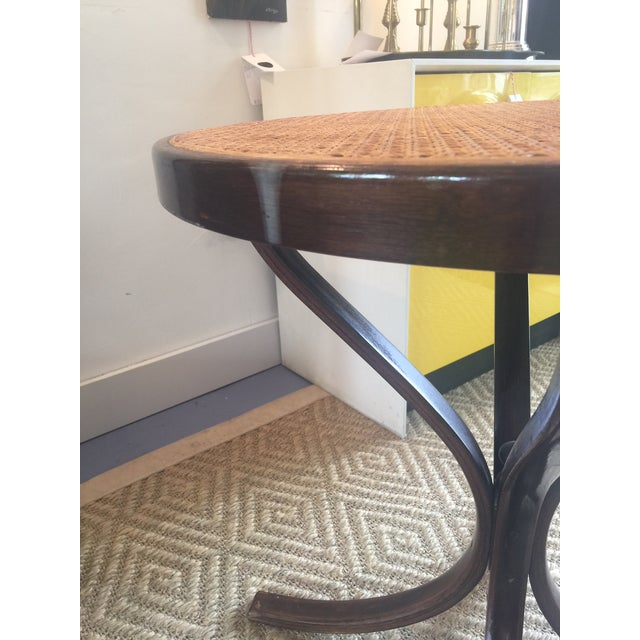 Vintage Bentwood Cane Top Table For Sale - Image 5 of 6