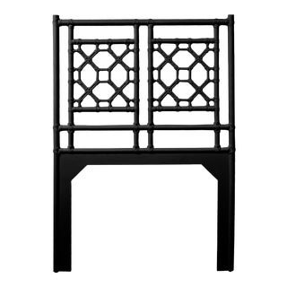 Lattice Back Headboard Twin - Black For Sale