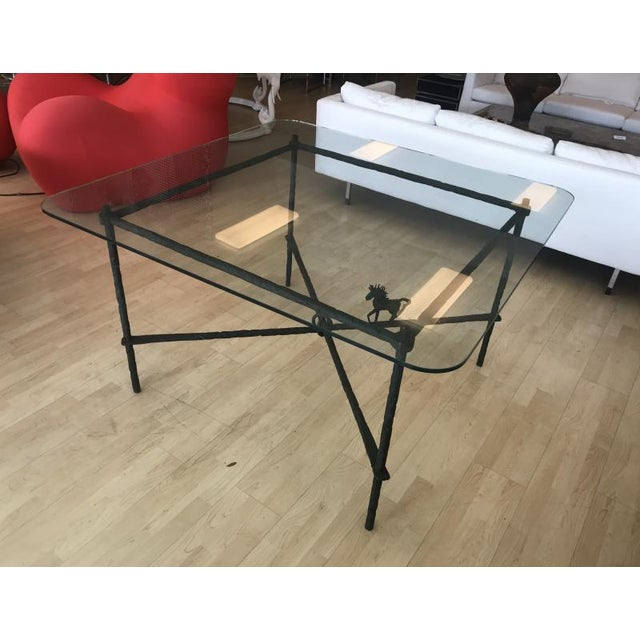 Ilana Goor 1970s Brutalist Metal Dining Table For Sale - Image 4 of 8