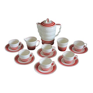 "Art Deco ""Aristocrat"" Demitasse Coffee Set - Set of 15 For Sale"