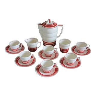 "Art Deco ""Aristocrat"" Demitasse Coffee Set - Set of 15"