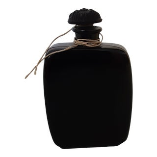 1930s French Black Perfume Bottle For Sale