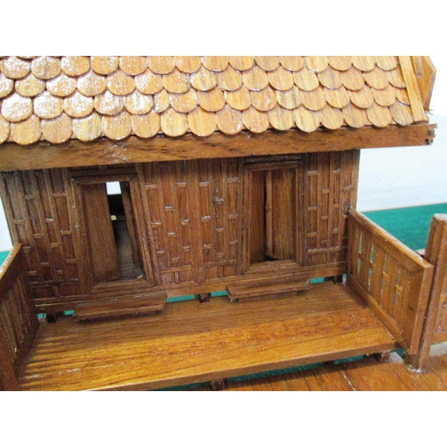 Architectural Model of a Japanese House in Glass Case For Sale - Image 9 of 10