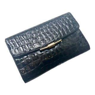 Rodo Classic Crocodile Embossed Patent Leather Clutch For Sale