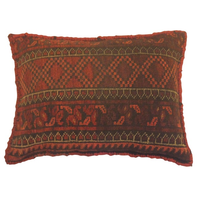 Afghan Rug Fragment Pillow - Image 1 of 3