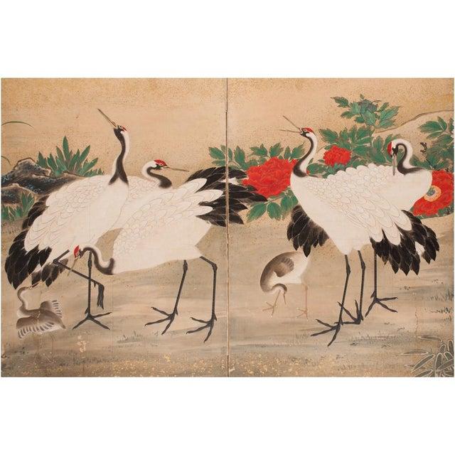 Edo Era Monumental Japanese Six-Panel Byobu Screen For Sale In Dallas - Image 6 of 13