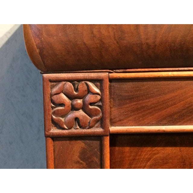 Louis Philippe Four Drawer Chest with Flame Mahogany For Sale - Image 4 of 13