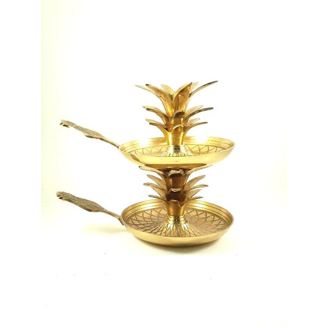 Hollywood Regency Brass Pineapple Candle Holders - Image 2 of 6
