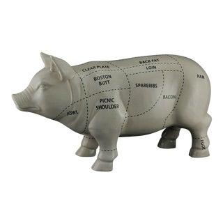 Ceramic Butcher Chart Pig Ceramic Statue