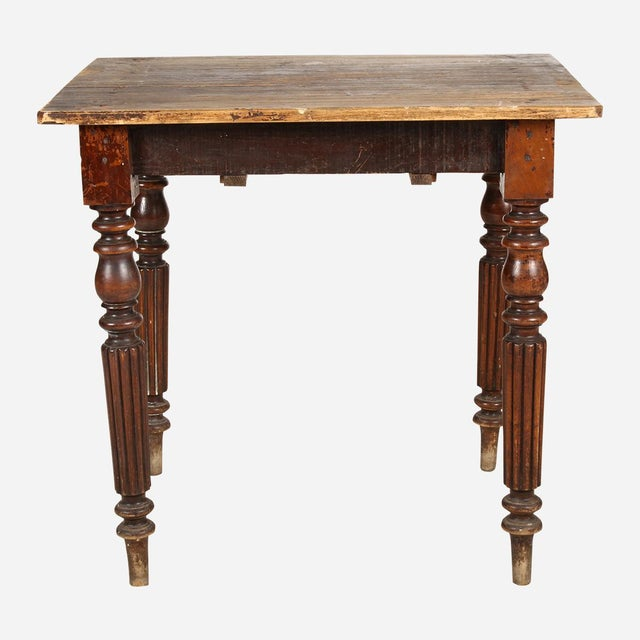 French Turned Wood Side Table For Sale - Image 4 of 6