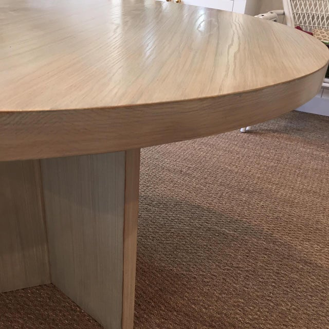 Not Yet Made - Made To Order Strieed Sea Foam Green Dining Table With Gold Edge For Sale - Image 5 of 10