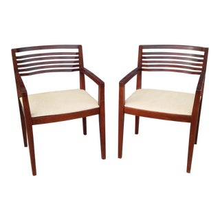 1990s Mahogany Knoll Ricchio Chairs - a Pair For Sale