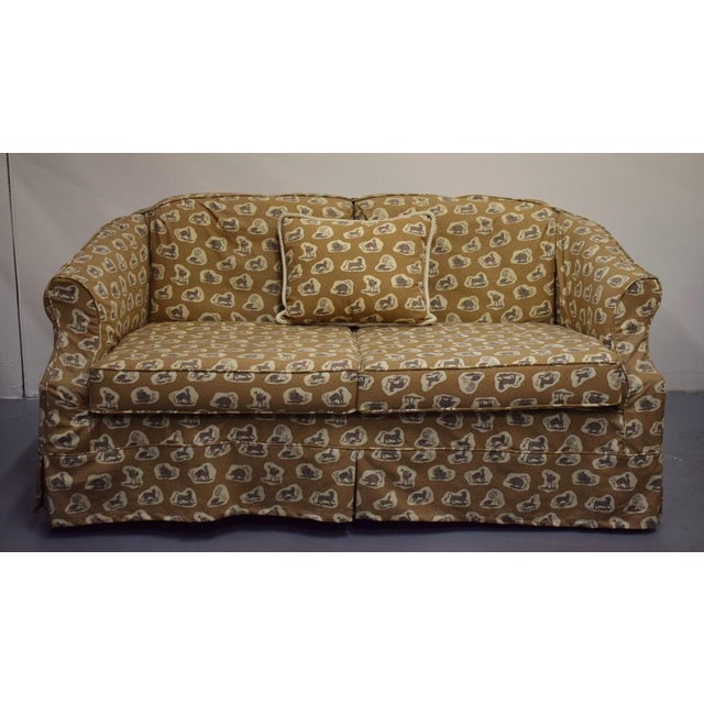 Cowtan & Tout Safari Upholstered Sofa w Pillow - Image 2 of 9