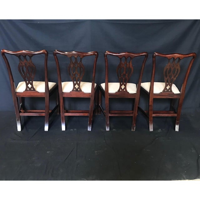 19th Century Antique English Mahogany Chippendale Style Dining Chairs-Set of 6 For Sale - Image 11 of 13