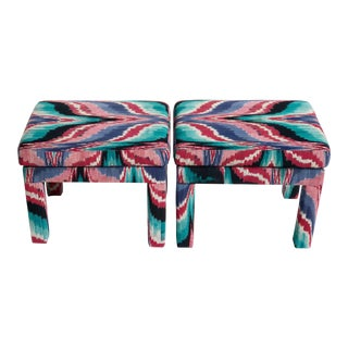 1970s Vintage Missoni Parsons Benches- A Pair For Sale