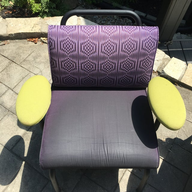 1980s 1990s Memphis Modern Style Club Chairs - a Pair For Sale - Image 9 of 13