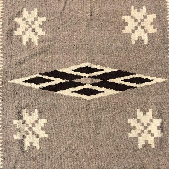 """Vintage Navajo Style Blanket Rug - 4'9"""" X 9"""" - Image 5 of 10"""