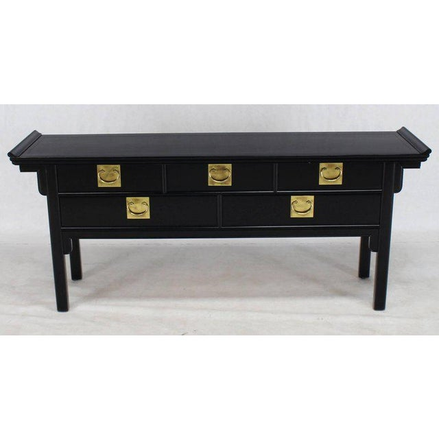 Century Furniture Oriental Mid-Century Modern Ebonized Black Lacquer Sideboard or Credenza For Sale - Image 4 of 10