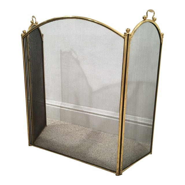 Antique Arched Fire Screen - Image 1 of 4
