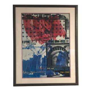 """""""People for the American Way"""" Signed by Rauschenberg For Sale"""