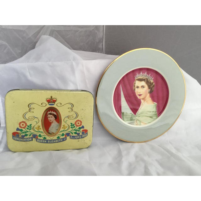 Coronation of Queen Elizabeth II Decorative Objects - a Pair For Sale - Image 13 of 13