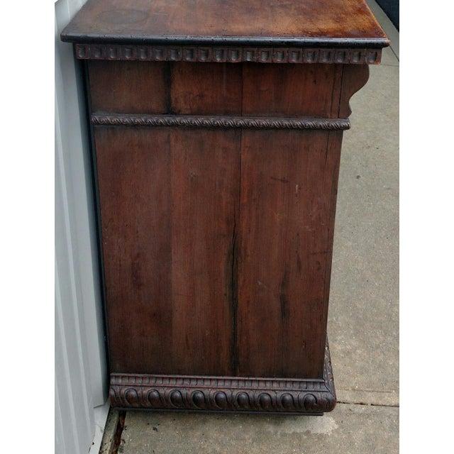19th C. Renaissance Revival Figural Carved 3 Door Sideboard Server - Image 4 of 10