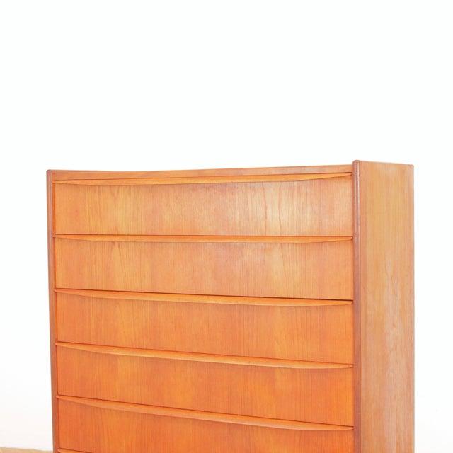 Vintage Danish Teak Highboy Dresser For Sale - Image 11 of 12