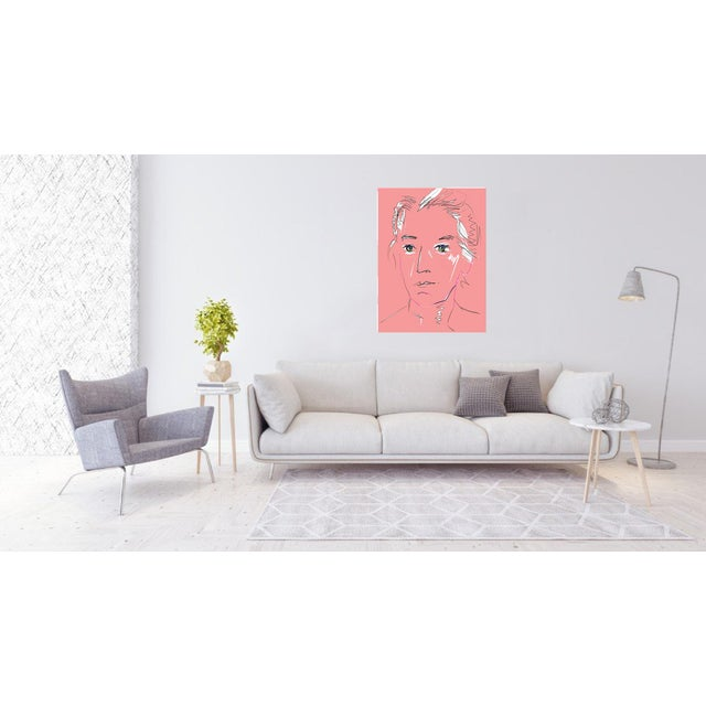 """""""Pink Lady"""" by Trixie Pitts Original Print on Heavy Paper For Sale - Image 10 of 13"""