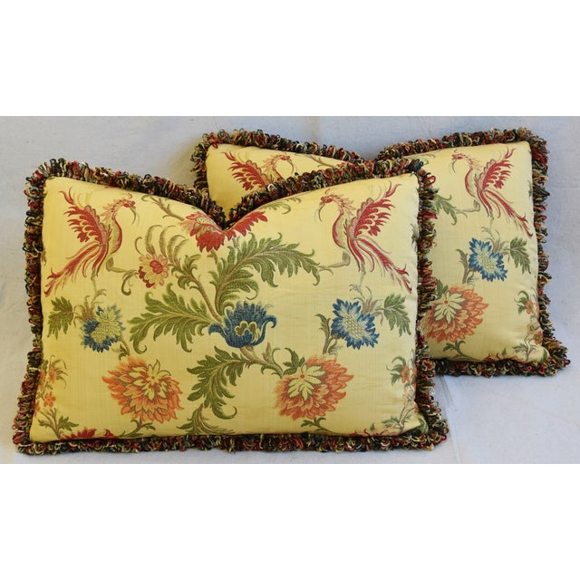 "Italian Coraggio Jacquard Feather/Down Pillows 24"" X 17"" - Pair For Sale - Image 13 of 13"