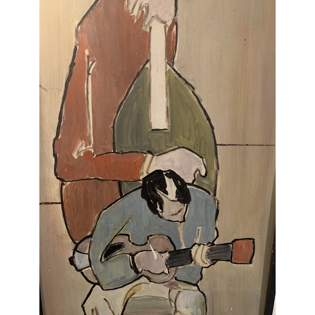 Mid Century Modern Painting, Guitar and Cello Ostermeyer For Sale - Image 4 of 5