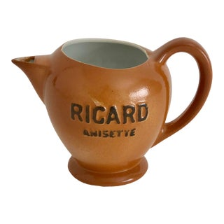French Porcelain Ricard Bistro Pitcher For Sale
