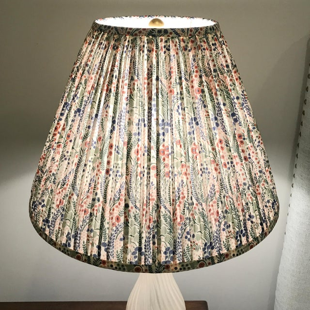 Boho Chic Pleated Floral Lamp Shade, Liberty London Fabric For Sale - Image 3 of 7